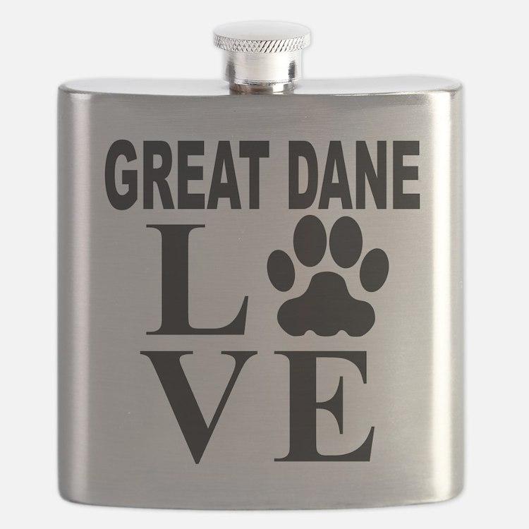 Great Dane Love Flask