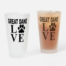 Great Dane Love Drinking Glass