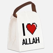 I Love Allah Digitial Design Canvas Lunch Bag