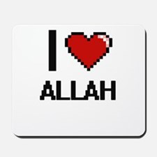 I Love Allah Digitial Design Mousepad