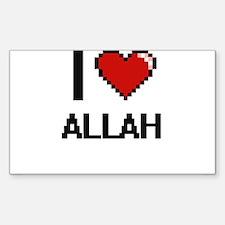 I Love Allah Digitial Design Decal