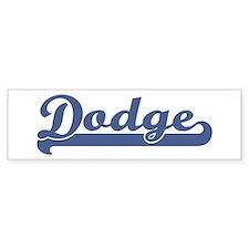 Dodge (sport-blue) Bumper Bumper Sticker