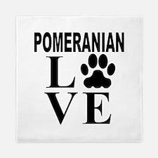 Pomeranian Love Queen Duvet