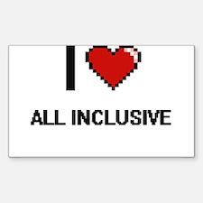 I Love All-Inclusive Digitial Design Decal