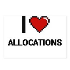 I Love Allocations Digiti Postcards (Package of 8)