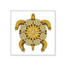 "Yellow Native American Bead Square Sticker 3"" x 3"""
