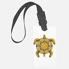 Yellow Native American Beadwork Luggage Tag