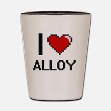 I Love Alloy Digitial Design Shot Glass