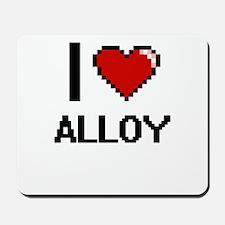 I Love Alloy Digitial Design Mousepad