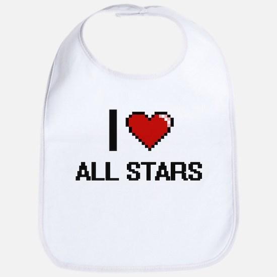 I Love All-Stars Digitial Design Bib
