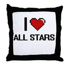 I Love All-Stars Digitial Design Throw Pillow