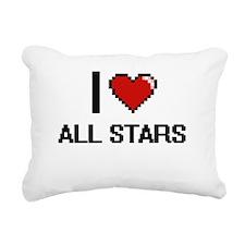 I Love All-Stars Digitia Rectangular Canvas Pillow