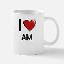 I Love Am Digitial Design Mugs