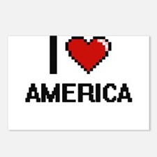 I Love America Digitial D Postcards (Package of 8)