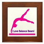 Gymnastics Framed Tile - Beam
