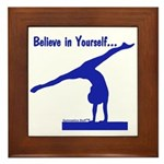 Gymnastics Framed Tile - Believe