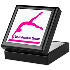 Gymnastics Keepsake Box - Beam