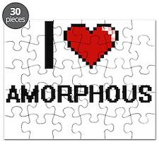 I Love Amorphous Digitial Design Puzzle
