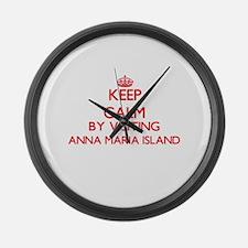 Keep calm by visiting Anna Maria Large Wall Clock