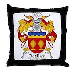 Botilher Family Crest Throw Pillow