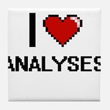 I Love Analyses Digitial Design Tile Coaster