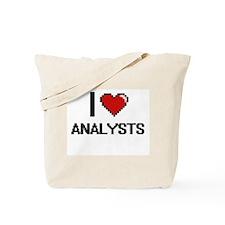 I Love Analysts Digitial Design Tote Bag