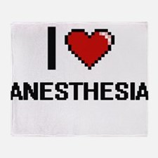 I Love Anesthesia Digitial Design Throw Blanket
