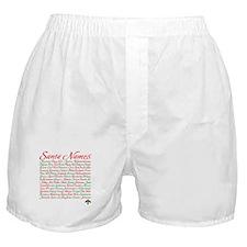 Christmas Santa Other Name Boxer Shorts