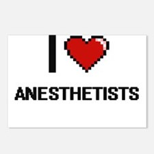 I Love Anesthetists Digit Postcards (Package of 8)
