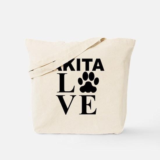 Akita Love Tote Bag