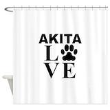 Akita Shower Curtains
