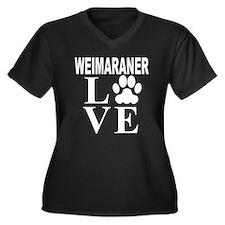 Weimaraner Love Plus Size T-Shirt