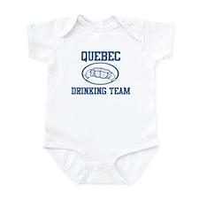 QUEBEC drinking team Infant Bodysuit