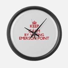 Keep calm by visiting Emerson Poi Large Wall Clock