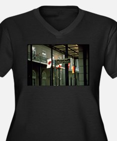 Bourbon Street Sign in New Orlea Plus Size T-Shirt