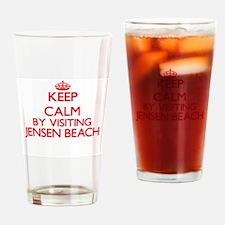Keep calm by visiting Jensen Beach Drinking Glass
