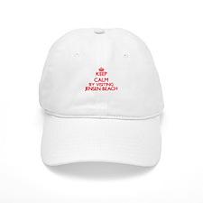 Keep calm by visiting Jensen Beach Florida Baseball Cap