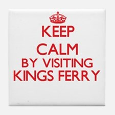 Keep calm by visiting Kings Ferry Geo Tile Coaster