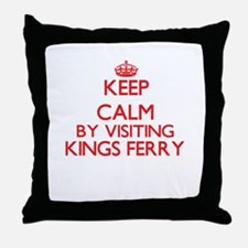 Keep calm by visiting Kings Ferry Geo Throw Pillow