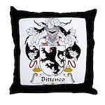Bittenco Family Crest Throw Pillow