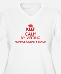 Keep calm by visiting Monroe Cou Plus Size T-Shirt