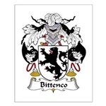 Bittenco Family Crest Small Poster