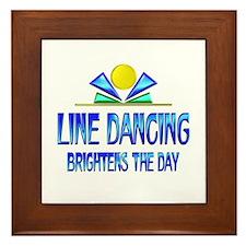 Line Dancing Brightens the Day Framed Tile