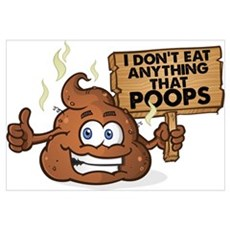 Poops Canvas Art