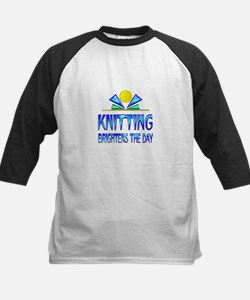 Knitting Brightens the Day Tee