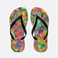 Funny Abstract Flip Flops