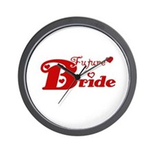 Future Bride (red) Wall Clock