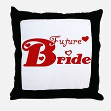 Future Bride (red) Throw Pillow