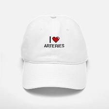 I Love Arteries Digitial Design Baseball Baseball Cap