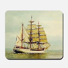 seascape ocean vintage sailboat  Mousepad